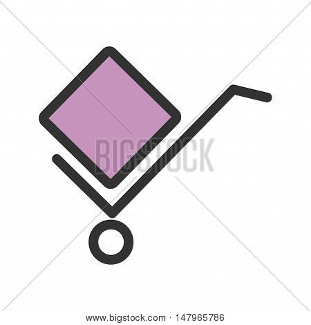 Box, carrier, packaging icon vector image. Can also be used for finances trade. Suitable for web apps, mobile apps and print media.
