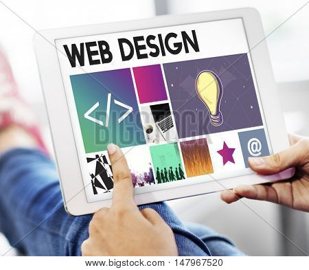 Homepage Website Coding Computer Networking Technology Concept