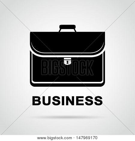 Illustration of black business bag design drawing