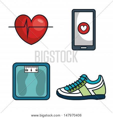 kit elements sport gym design vector illustration eps 10