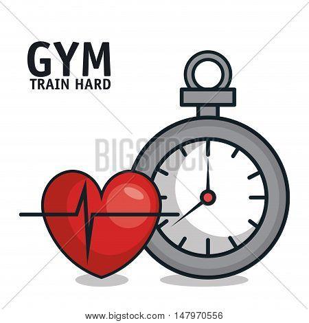 sportwatch heartrate sport gym design vector illustration eps 10