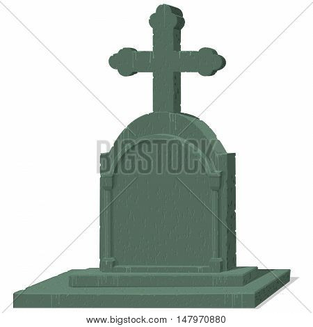 Isolate gravestone with perfect texture on transparent background