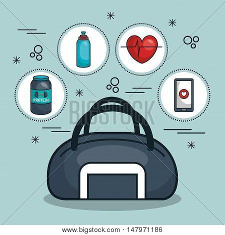 bag and kit gym concept vector illustration eps 10