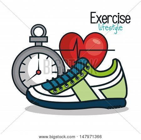 exercise lifestyle icons sport design vector illustration eps 10