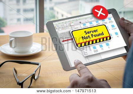 Computer Server Not Found Error Inaccessible