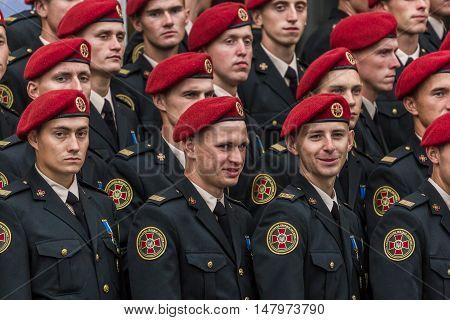 August 24, 2016. Kyiv Ukraine Military parade for the Ukrainia