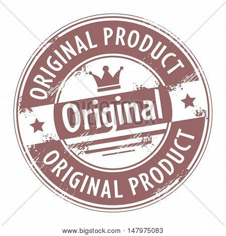 bstract grunge rubber stamp with text original product written inside the stamp, vector illustration