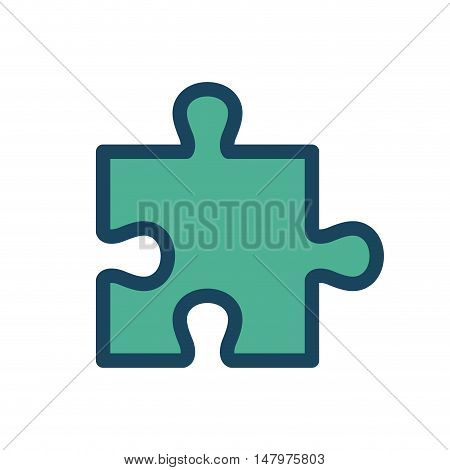 puzzle solution icon design isolated vector illustration eps 10
