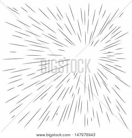 illustration vector abstract manga speed motion black starburst straight lines