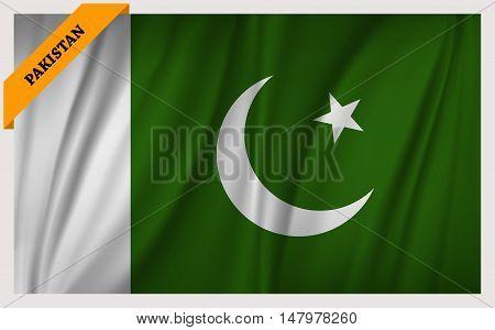 National flag of Pakistan - waving edition