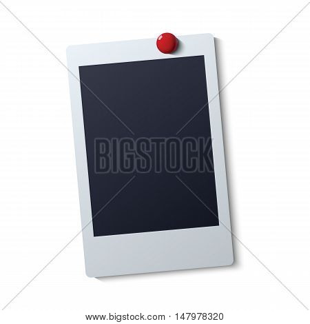 Polaroid frame vector illustration . Instant photo with black space for image
