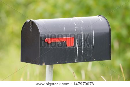Rural Mailbox On A Metal Post