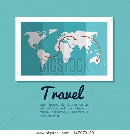map world globe travel design vector illustration eps 10