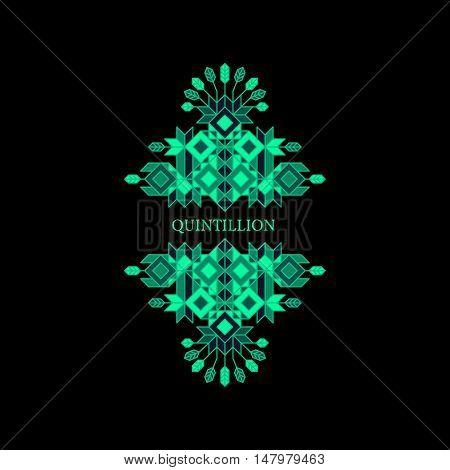 Decorative Design Element in Retro Style. Vector Calligraphic Template. Line Art.