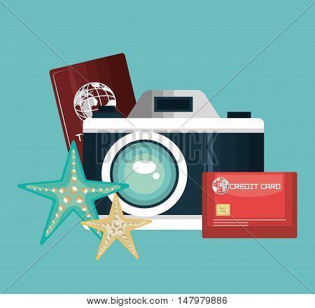 camera photography travel vacation design vector illustration eps 10