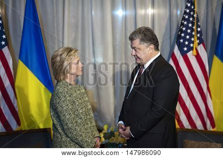 Hillary Clinton And Petro Poroshenko
