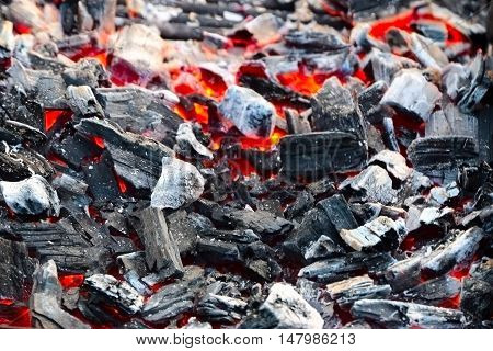 abstract image of coal in a bright flame