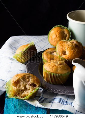 Vegan Spelt Wheat Muffins With Fruit