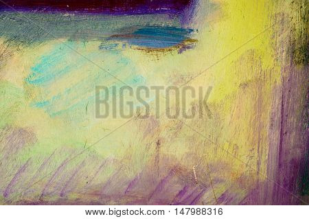 Ethnography, M.sh. Khaziev. Artist Picture Painted In Oils. Background Texture Units. Scenes From Th