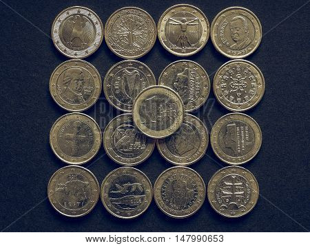 Vintage Euro Coins Of Many Countries