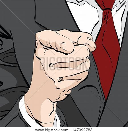 vector pointing finger hand drawn illustration. we need you