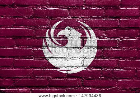 Flag Of Phoenix, Arizona, Usa, Painted On Brick Wall