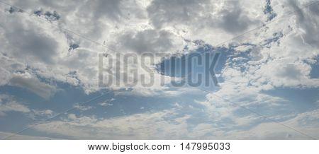 Cloudy Sky / Panoramic photo of cloudy sky