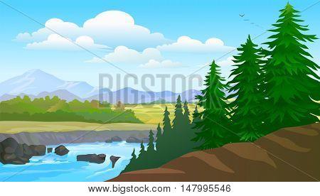 Pines and Lake View