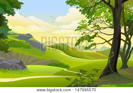 Hills, meadows and scenic outdoors