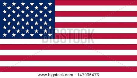 vector image of american flag. Flag USA. US Flag. Stripes and stars