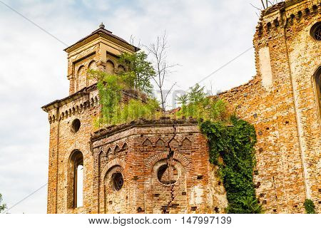 The old ruined synagogue building in Vidin, Bulgaria