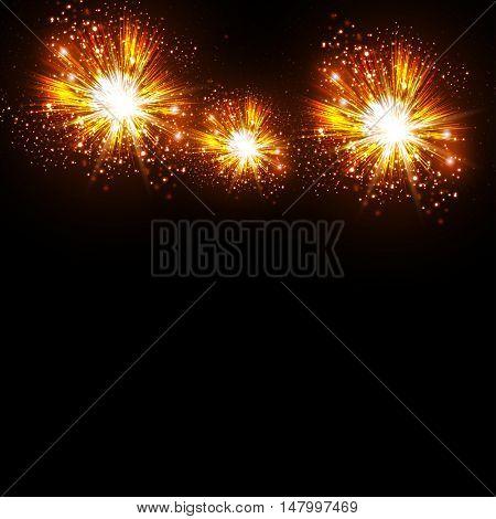 Happy New Year fireworks brochure