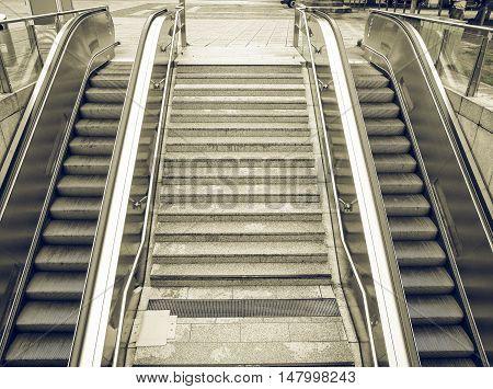 Vintage Looking Escalator