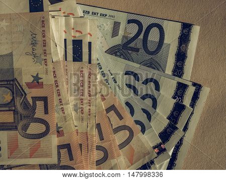Vintage Fifty And Twenty Euro Notes