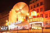 stock photo of moulin rouge  - PARIS FRANCE  - JPG