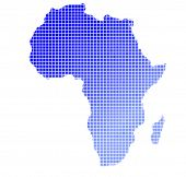 Gradient Map Of Africa Mozaic poster