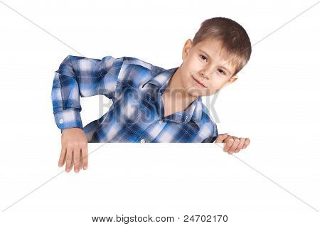 Boy With A White Banner