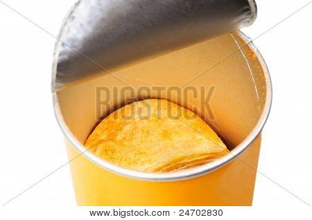 Chips in jar