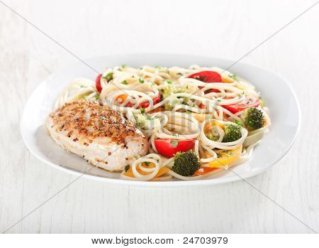 Pasta And Chicken Breast