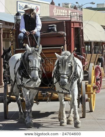 A View Of A Stagecoach, Tombstone, Arizona
