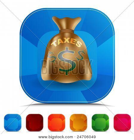 An image of a taxes bag gemstone button set.