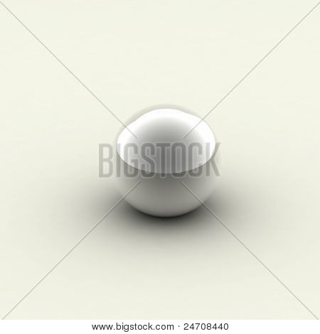 one silver chrome ball