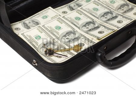 Case Full Of Cash And Gold Key