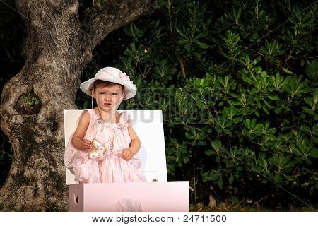 Kid Portrait on a garden