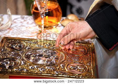 Holding Wedding Rings