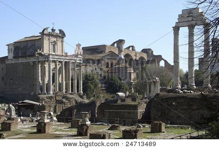 Forum Romanum At Summer Time