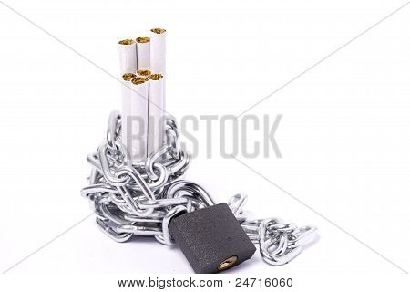 A Pile Of Cigarettes  Of Chains And Padlocks