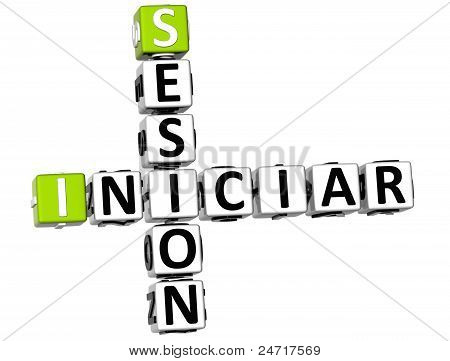 3D Iniciar Sesion Crossword