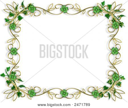 St Patricks Day Golden  Frame