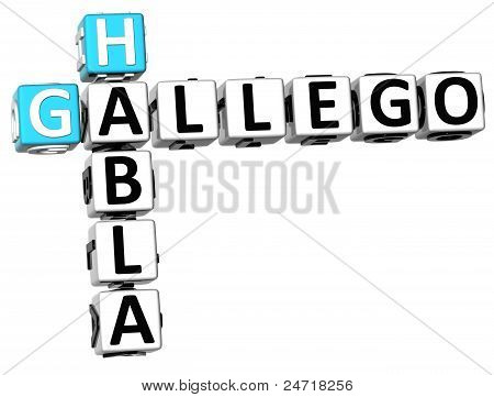 3D Habla Gallego Crossword
